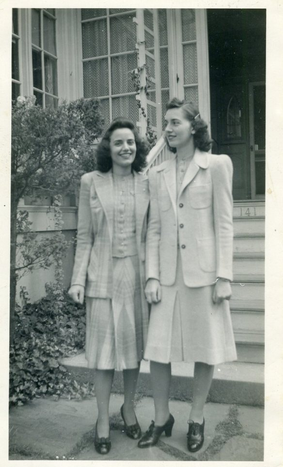 Bertha and Catherine Pappas, Hoboken, New Jersey, about 1945